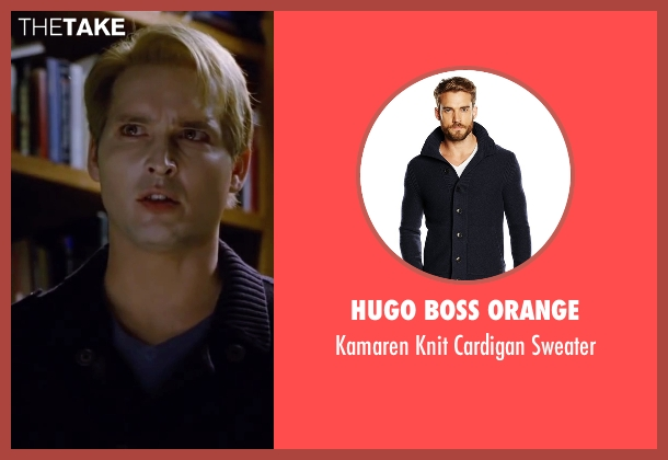 Hugo Boss Orange blue sweater from The Twilight Saga: Breaking Dawn - Part 2 seen with Peter Facinelli (Dr. Carlisle Cullen)