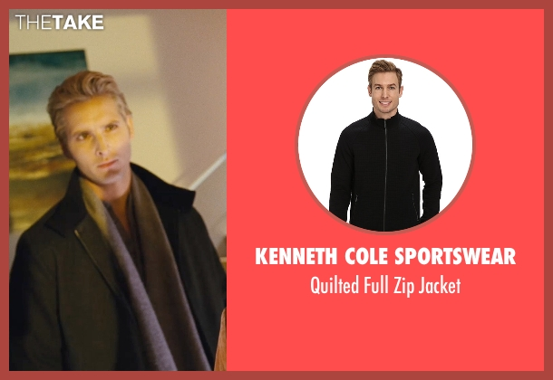 Kenneth Cole Sportswear black jacket from Twilight seen with Peter Facinelli (Dr. Carlisle Cullen)
