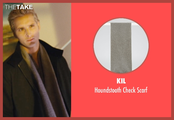 Kil gray scarf from Twilight seen with Peter Facinelli (Dr. Carlisle Cullen)