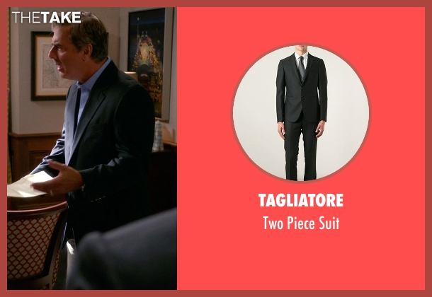 Tagliatore black suit from The Good Wife seen with Peter Florrick (Chris Noth)