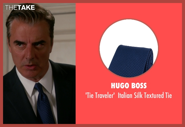 Hugo Boss blue tie from The Good Wife seen with Peter Florrick (Chris Noth)