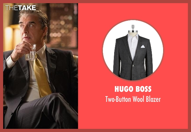 Hugo Boss gray blazer from The Good Wife seen with Peter Florrick (Chris Noth)