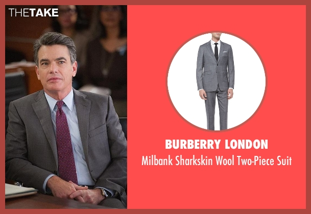 Burberry London gray suit from The Good Wife seen with Peter Florrick (Chris Noth)