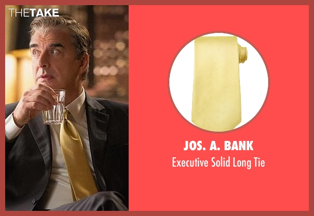 Jos. A. Bank yellow tie from The Good Wife seen with Peter Florrick (Chris Noth)