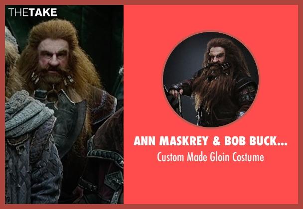 Ann Maskrey & Bob Buck (Costume Designer) costume from The Hobbit: The Battle of The Five Armies seen with Peter Hambleton (Gloin)
