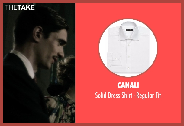Canali white fit from The Age of Adaline seen with Peter J. Gray (Clarence James Prescott)