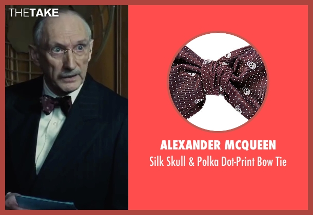 Alexander McQueen red tie from Bridge of Spies seen with Peter McRobbie (Allen Dulles)