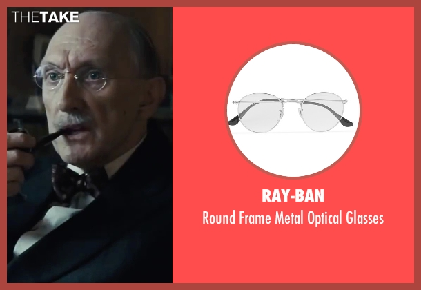 Ray-Ban white glasses from Bridge of Spies seen with Peter McRobbie (Allen Dulles)
