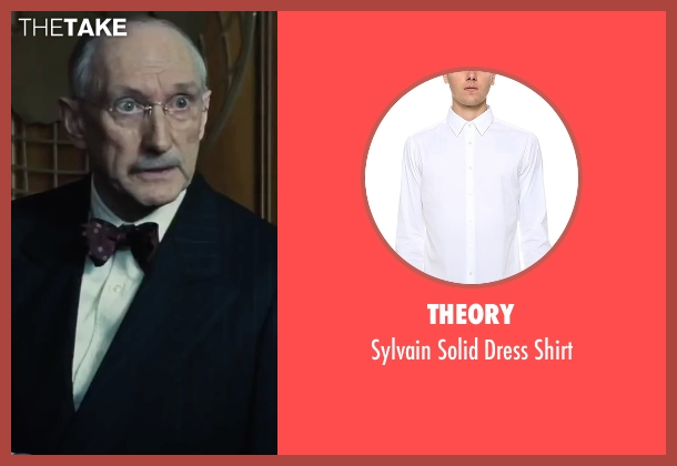 Theory white shirt from Bridge of Spies seen with Peter McRobbie (Allen Dulles)