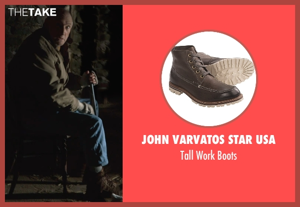 John Varvatos Star USA brown boots from The Visit seen with Peter McRobbie (Unknown Character)