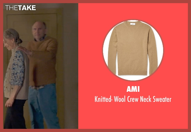 Ami brown sweater from The Visit seen with Peter McRobbie (Unknown Character)