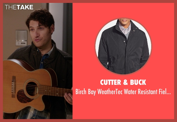 Cutter & Buck black jacket from The Mindy Project seen with Peter Prentice  (Adam Pally )
