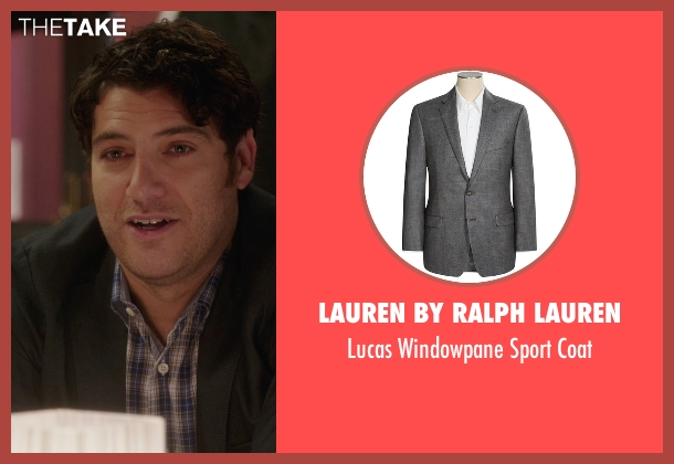 Lauren By Ralph Lauren gray coat from The Mindy Project seen with Peter Prentice  (Adam Pally )