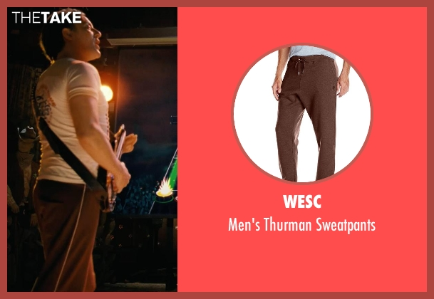 WeSC brown sweatpants from Couple's Retreat seen with Peter Serafinowicz (Sctanley)
