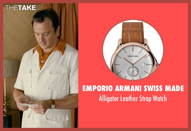 Emporio Armani Swiss Made brown watch from Couple's Retreat seen with Peter Serafinowicz (Sctanley)