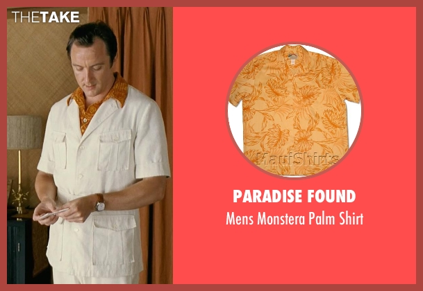 Paradise Found orange shirt from Couple's Retreat seen with Peter Serafinowicz (Sctanley)