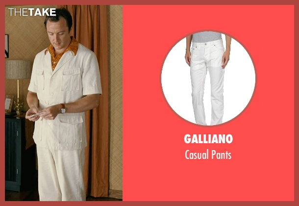 Galliano white pants from Couple's Retreat seen with Peter Serafinowicz (Sctanley)