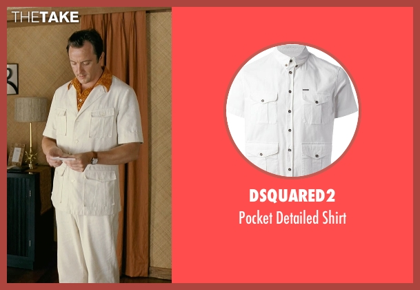 DSquared2 white shirt from Couple's Retreat seen with Peter Serafinowicz (Sctanley)