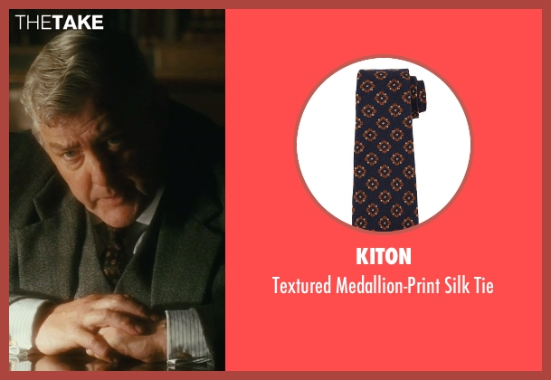 Kiton brown tie from Atonement seen with Peter Wight (Police Inspector)
