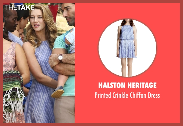 Halston Heritage blue dress from Jane the Virgin seen with Petra Solano (Yael Grobglas)