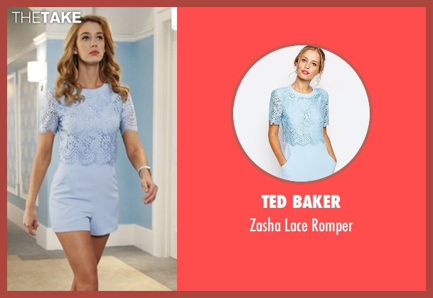 Ted Baker blue romper from Jane the Virgin seen with Petra Solano (Yael Grobglas)