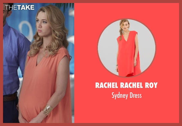 Rachel Rachel Roy pink dress from Jane the Virgin seen with Petra Solano (Yael Grobglas)