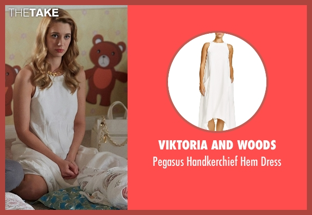 Viktoria and Woods white dress from Jane the Virgin seen with Petra Solano (Yael Grobglas)