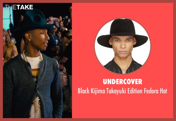 Undercover black hat from Entourage seen with Pharrell Williams (Unknown Character)