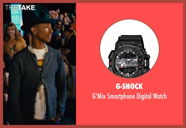 G-Shock black watch from Entourage seen with Pharrell Williams (Unknown Character)