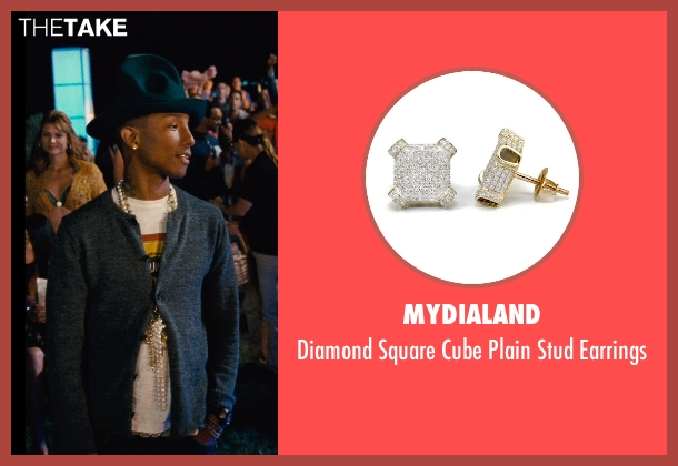 MyDiaLand gold earrings from Entourage seen with Pharrell Williams (Unknown Character)