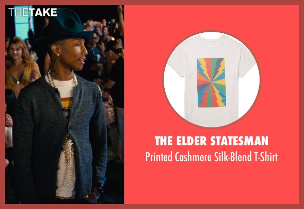 The Elder Statesman white t-shirt from Entourage seen with Pharrell Williams (Unknown Character)