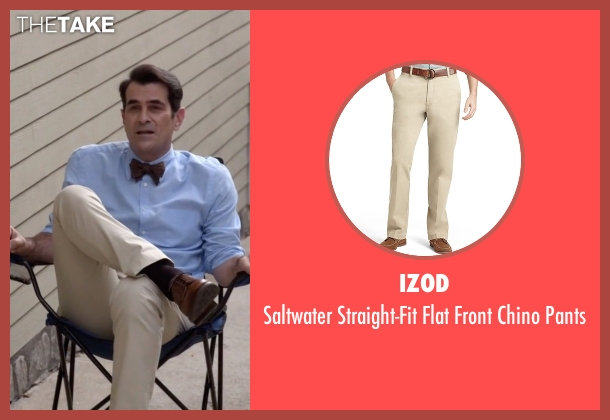 Izod beige pants from Modern Family seen with Phil Dunphy (Ty Burrell)