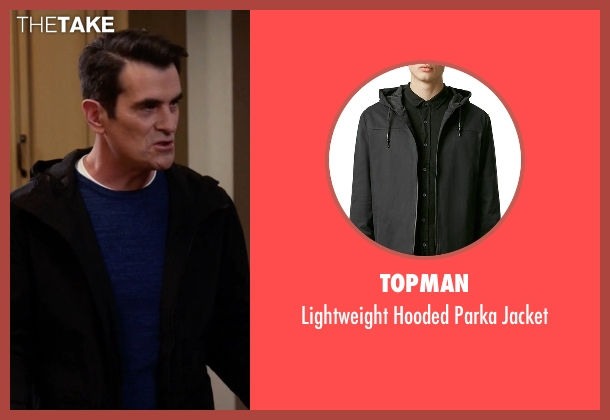 Topman black jacket from Modern Family seen with Phil Dunphy (Ty Burrell)