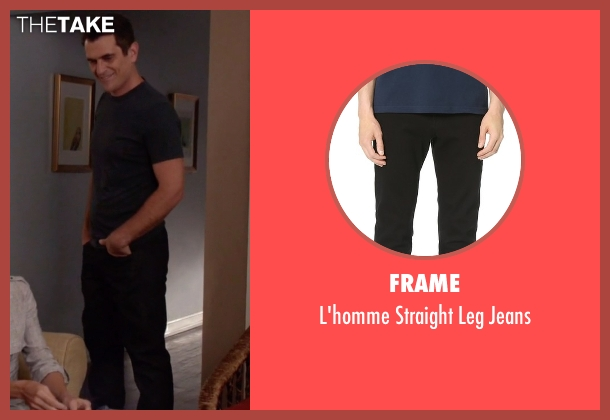 Frame black jeans from Modern Family seen with Phil Dunphy (Ty Burrell)