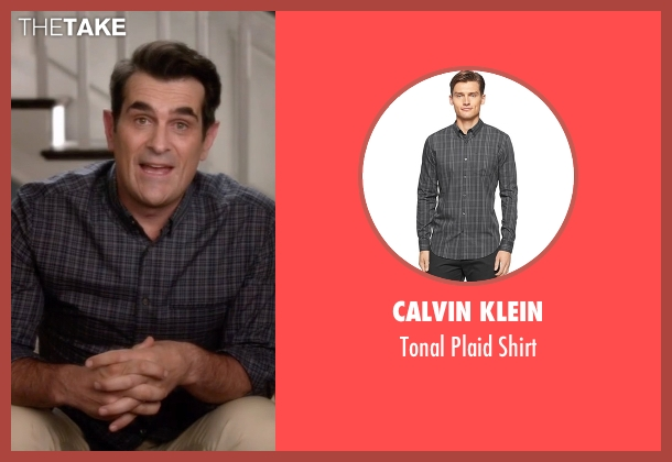 Calvin Klein black shirt from Modern Family seen with Phil Dunphy (Ty Burrell)