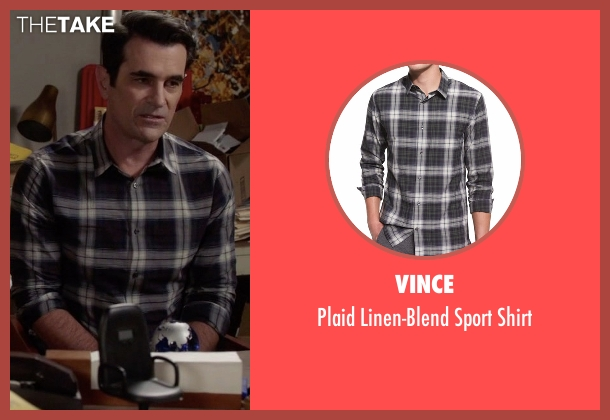 Vince black shirt from Modern Family seen with Phil Dunphy (Ty Burrell)
