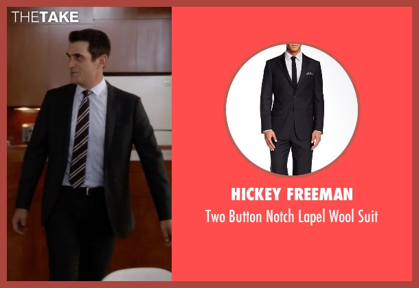 Hickey Freeman black suit from Modern Family seen with Phil Dunphy (Ty Burrell)