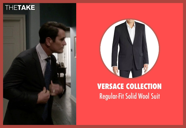 Versace Collection black suit from Modern Family seen with Phil Dunphy (Ty Burrell)