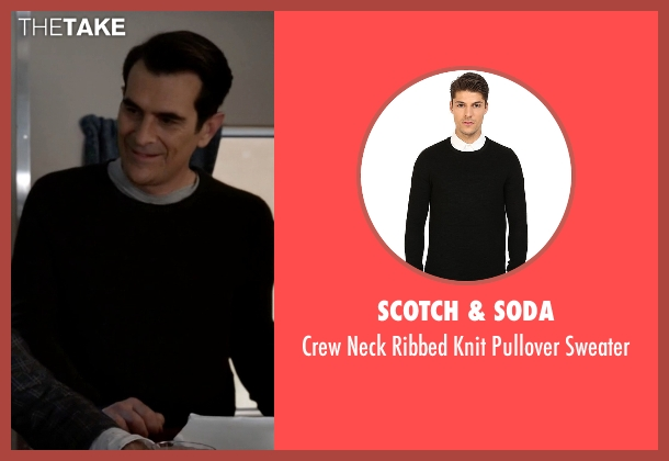 Scotch & Soda black sweater from Modern Family seen with Phil Dunphy (Ty Burrell)