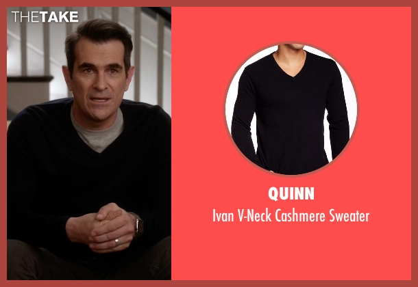 Quinn black sweater from Modern Family seen with Phil Dunphy (Ty Burrell)