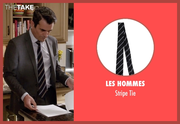 Les Hommes black tie from Modern Family seen with Phil Dunphy (Ty Burrell)