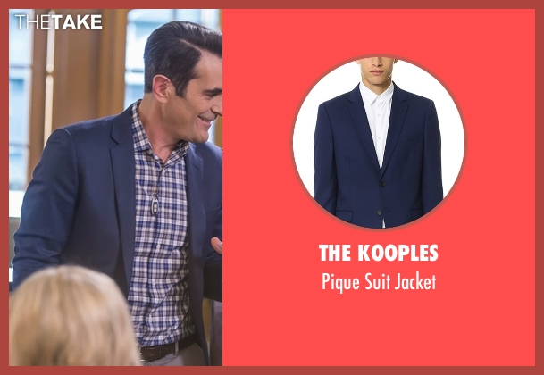 The Kooples blue jacket from Modern Family seen with Phil Dunphy (Ty Burrell)