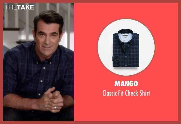 Mango blue shirt from Modern Family seen with Phil Dunphy (Ty Burrell)