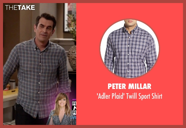 Peter Millar blue shirt from Modern Family seen with Phil Dunphy (Ty Burrell)