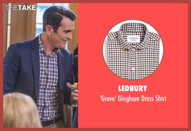 Ledbury blue shirt from Modern Family seen with Phil Dunphy (Ty Burrell)