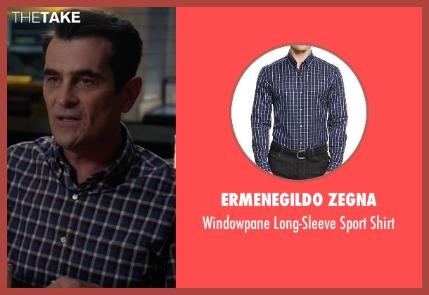 Ermenegildo Zegna blue shirt from Modern Family seen with Phil Dunphy (Ty Burrell)