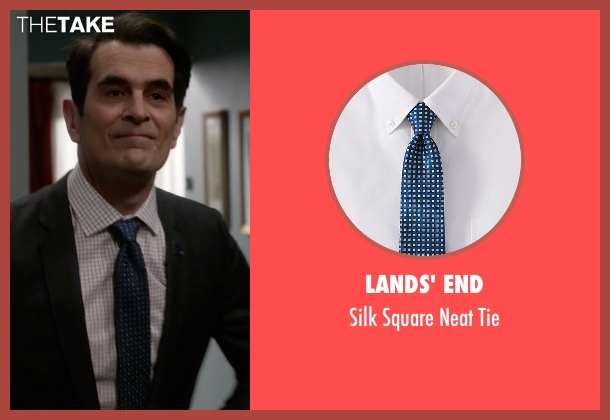 Lands' End blue tie from Modern Family seen with Phil Dunphy (Ty Burrell)