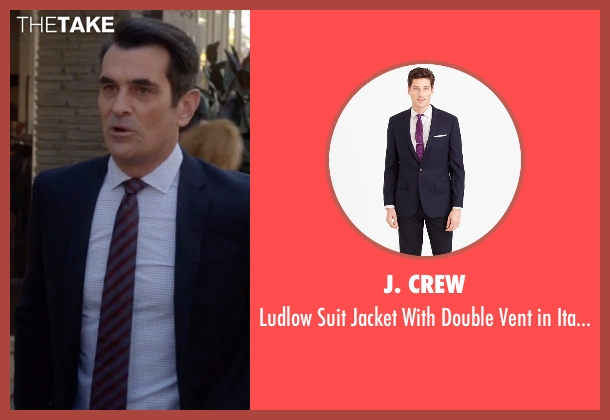 J. Crew blue wool from Modern Family seen with Phil Dunphy (Ty Burrell)