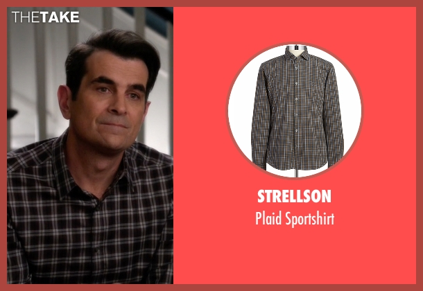 Strellson brown sportshirt from Modern Family seen with Phil Dunphy (Ty Burrell)