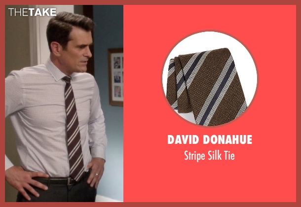David Donahue brown tie from Modern Family seen with Phil Dunphy (Ty Burrell)